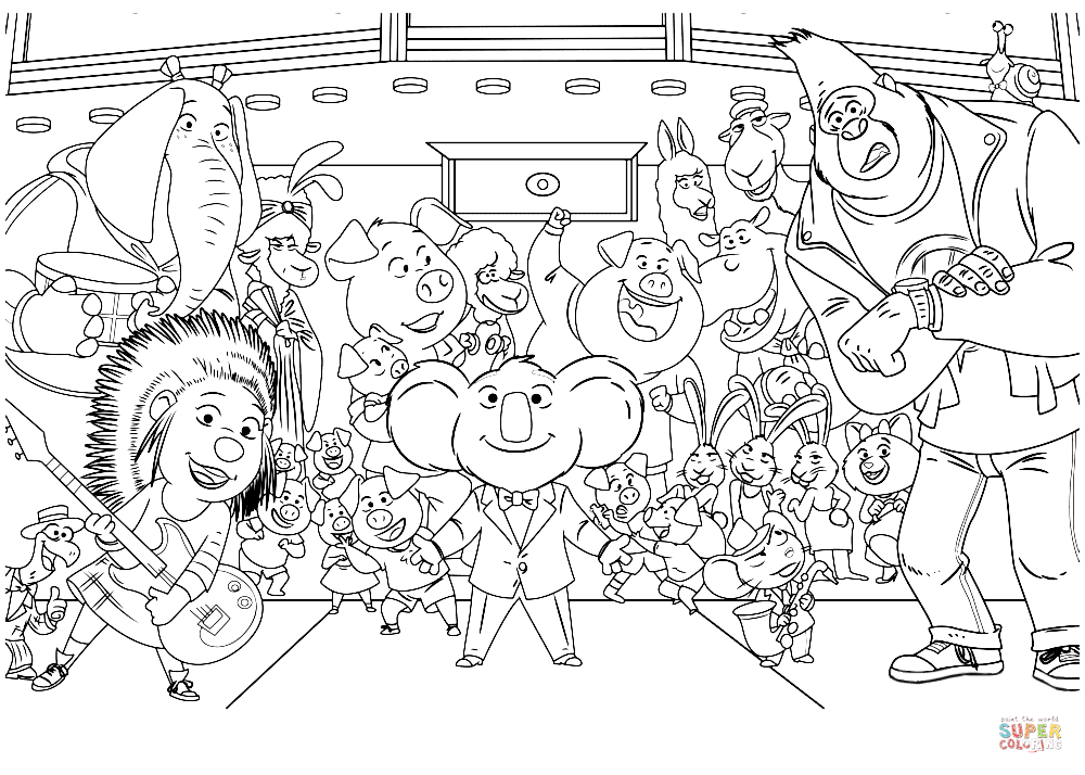 character coloring pages sing movie characters coloring page free printable character pages coloring