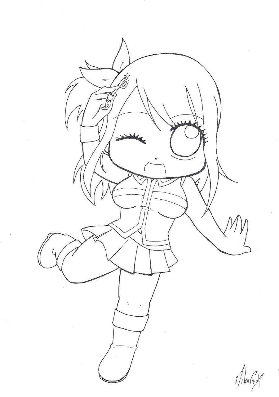 chibi fairy tail coloring pages chibi lucy lineart by silvase on deviantart tail chibi fairy pages coloring