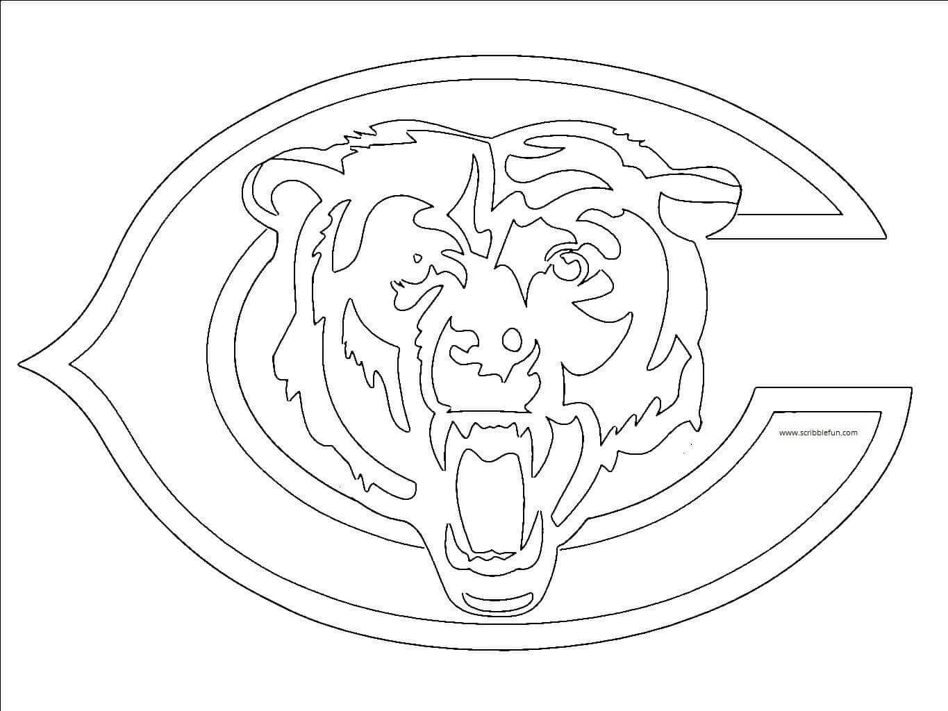 chicago bears coloring pages chicago bears coloring pages coloring bears chicago pages