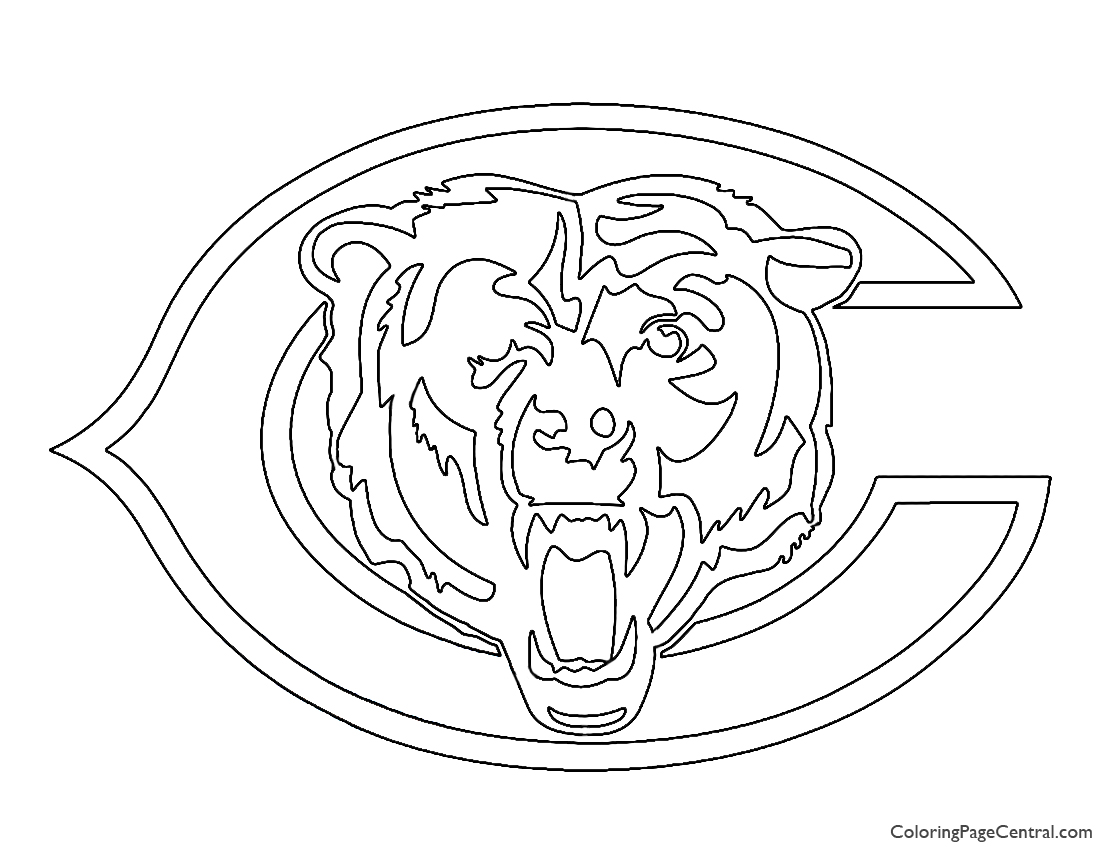 chicago bears coloring pages chicago bears drawing at getdrawings free download coloring chicago bears pages