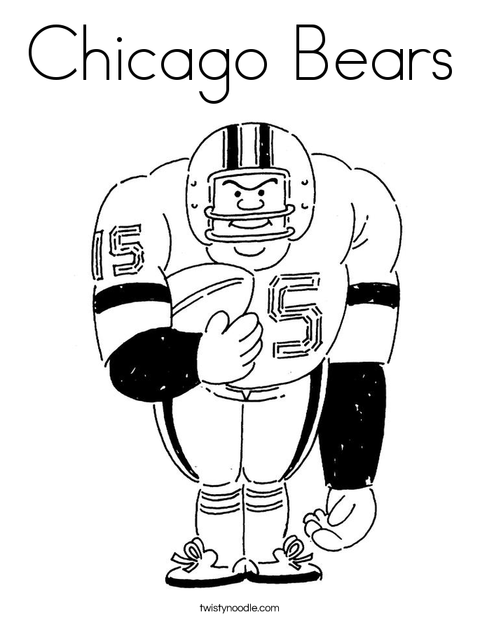chicago bears coloring pages chicago bears logo coloring page free nfl coloring pages bears pages coloring chicago