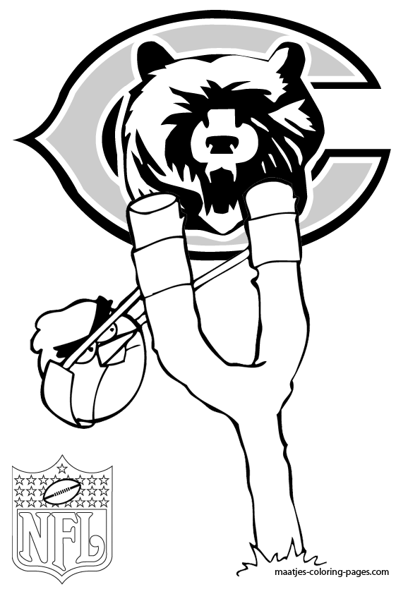 chicago bears coloring pages chicago bears logo coloring page from nfl category select bears coloring chicago pages