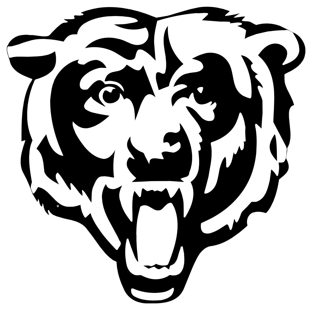 chicago bears coloring pages chicago bears logo coloring page supercoloringcom chicago coloring bears pages