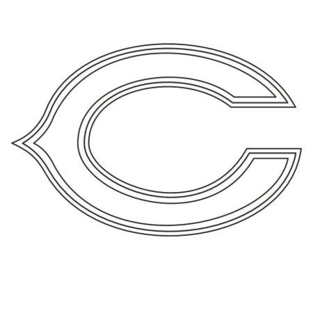 chicago bears coloring pages chicago bears nfl american football teams logos coloring chicago bears coloring pages