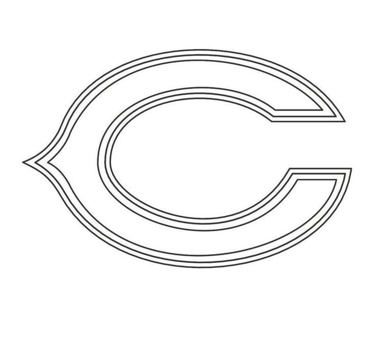 chicago bears coloring pages chicago bears nfl american football teams logos coloring pages bears coloring chicago