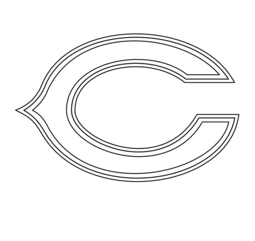 chicago bears coloring pages chicago bears symbol pictures coloring home pages bears coloring chicago