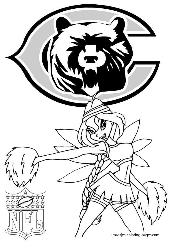 chicago bears coloring pages chicago bears winx cheerleader coloring pages coloring chicago bears pages