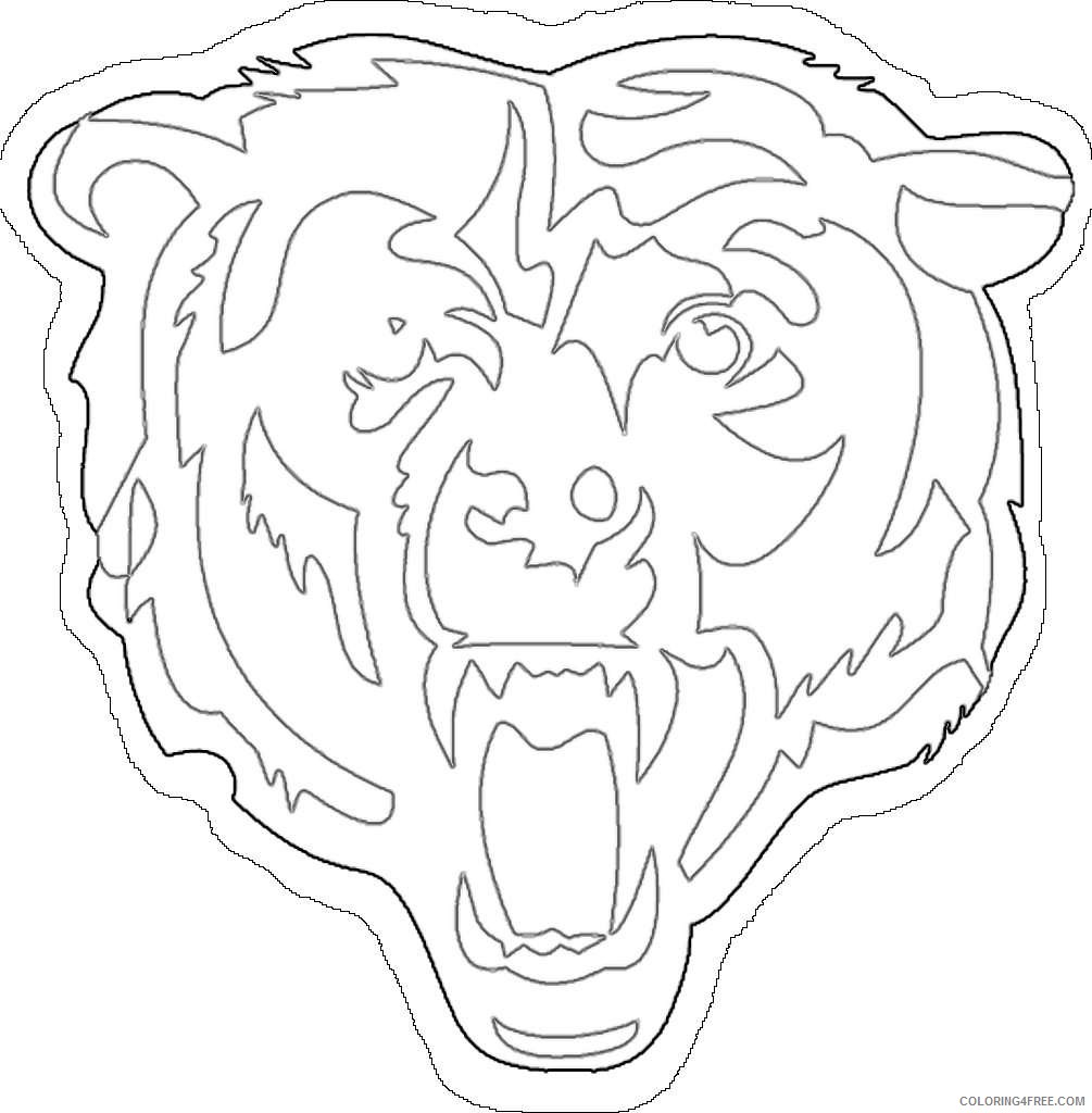 chicago bears coloring pages coloring pages chicago bears 6 clip art library pages bears chicago coloring
