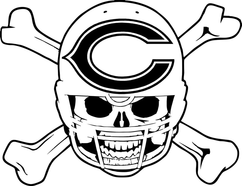chicago bears coloring pages nfl chicago bears coloring page coloring page central pages coloring bears chicago
