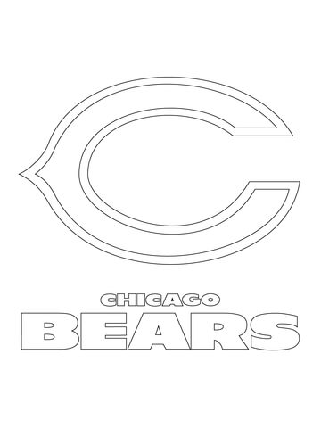 chicago bears coloring pages nfl chicago bears stencil bear stencil bear coloring bears chicago coloring pages