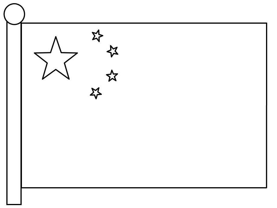 china flag template chinese flag coloring page coloring home china template flag