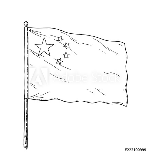 china flag template chinese flag coloring pages free food ideas flag china template