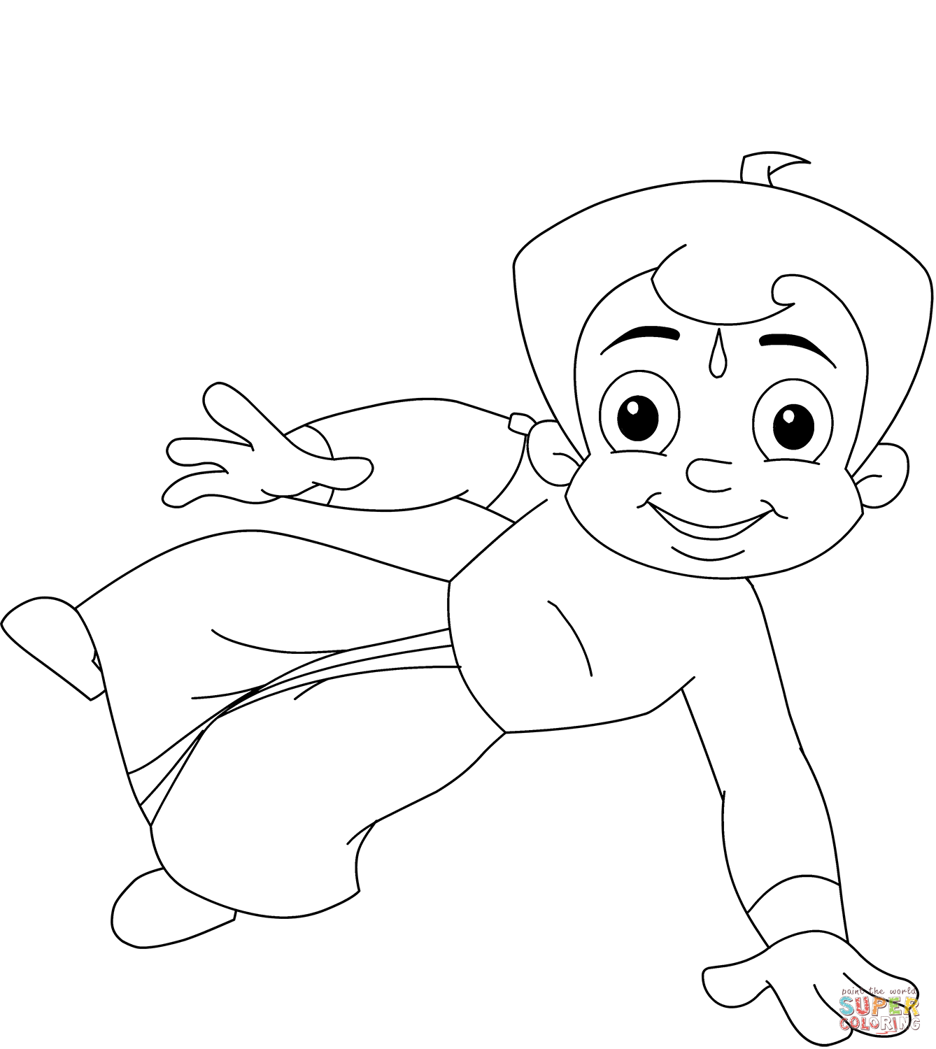 chota bheem sketch for colouring chhota bheem coloring page free printable coloring pages for colouring sketch chota bheem