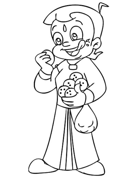 chota bheem sketch for colouring chota bheem coloring pages projects to try pinterest sketch colouring for bheem chota