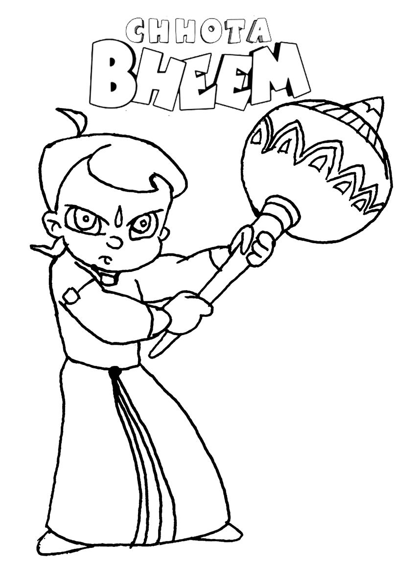 chota bheem sketch for colouring kids page chota bheem coloring pages for kids bheem chota sketch colouring for