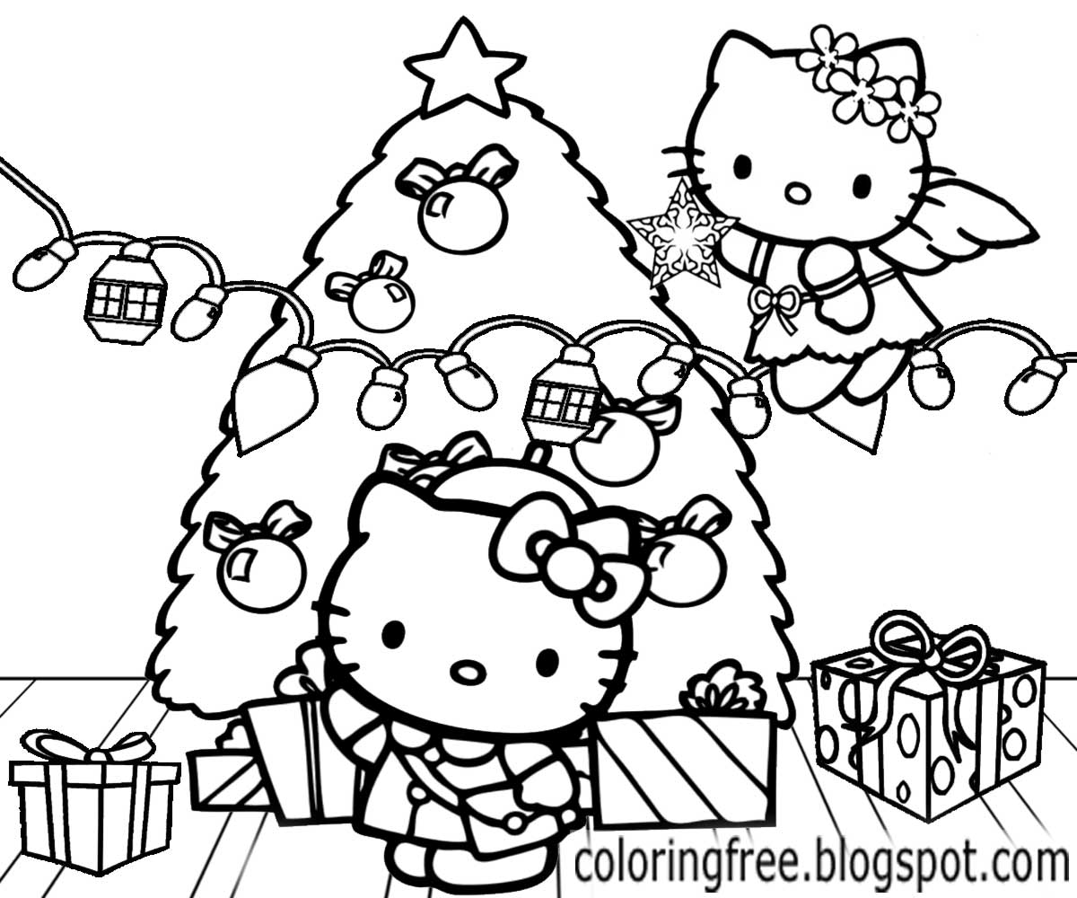 christmas coloring pages hello kitty christmas printable coloring pages 1600x1600 line pages christmas hello coloring kitty