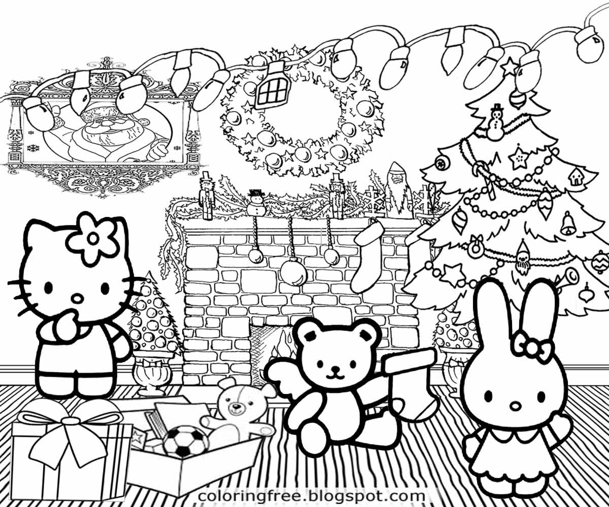 christmas coloring pages hello kitty hello kitty christmas coloring page wallpapers9 coloring christmas kitty pages hello