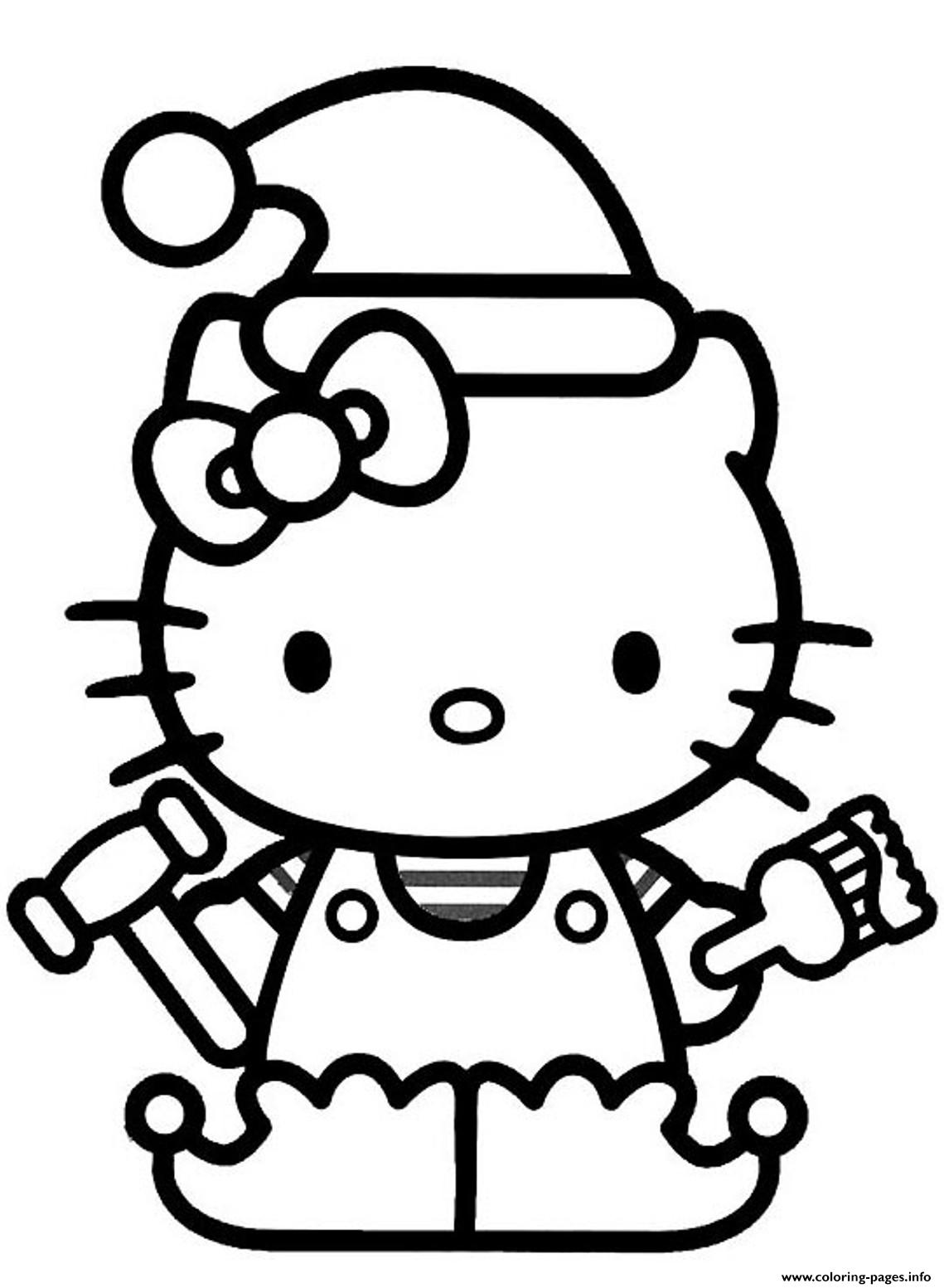 christmas coloring pages hello kitty xmas coloring pages hello christmas kitty pages coloring
