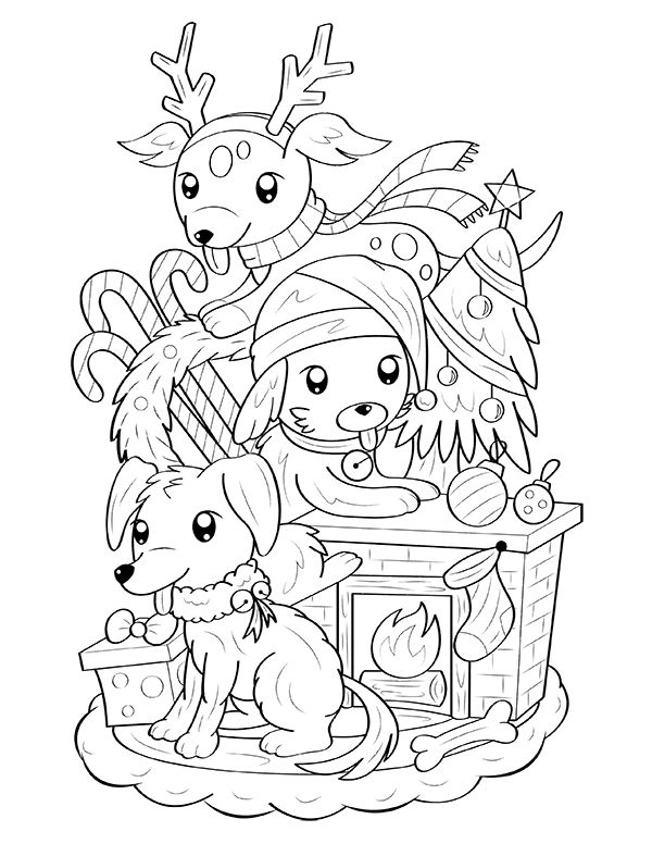 christmas coloring pages of puppies free printable christmas dog coloring page download it of coloring christmas pages puppies