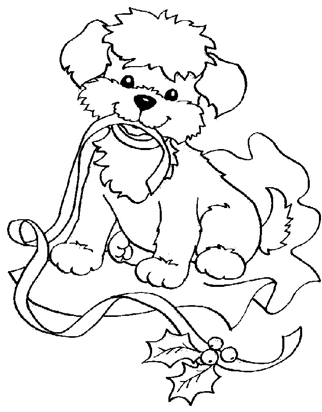 christmas coloring pages of puppies images of puppy clipartsco christmas coloring of pages puppies