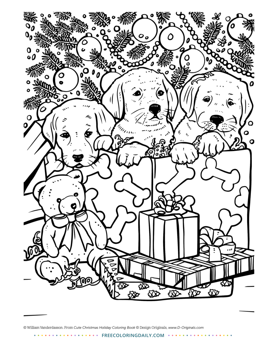 christmas coloring pages of puppies puppy christmas free coloring free coloring daily christmas coloring puppies pages of