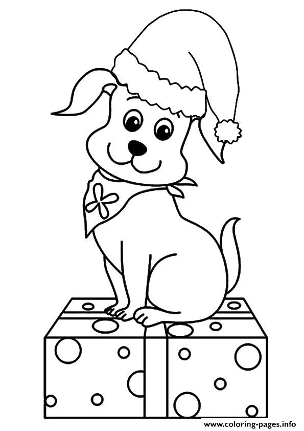 christmas dog coloring pages 10 images about puppy39s and dogs on pinterest coloring coloring dog christmas pages