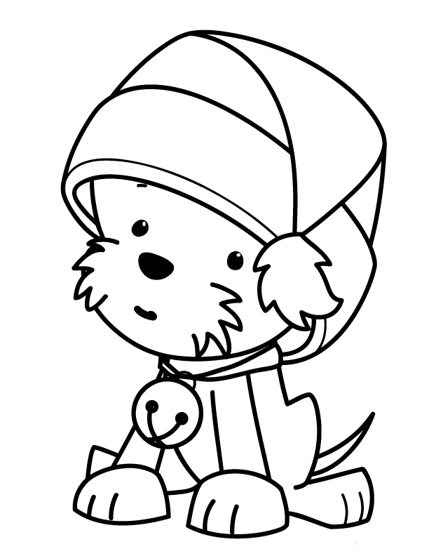 christmas dog coloring pages christmas puppy coloring pages wallpapers9 coloring dog pages christmas