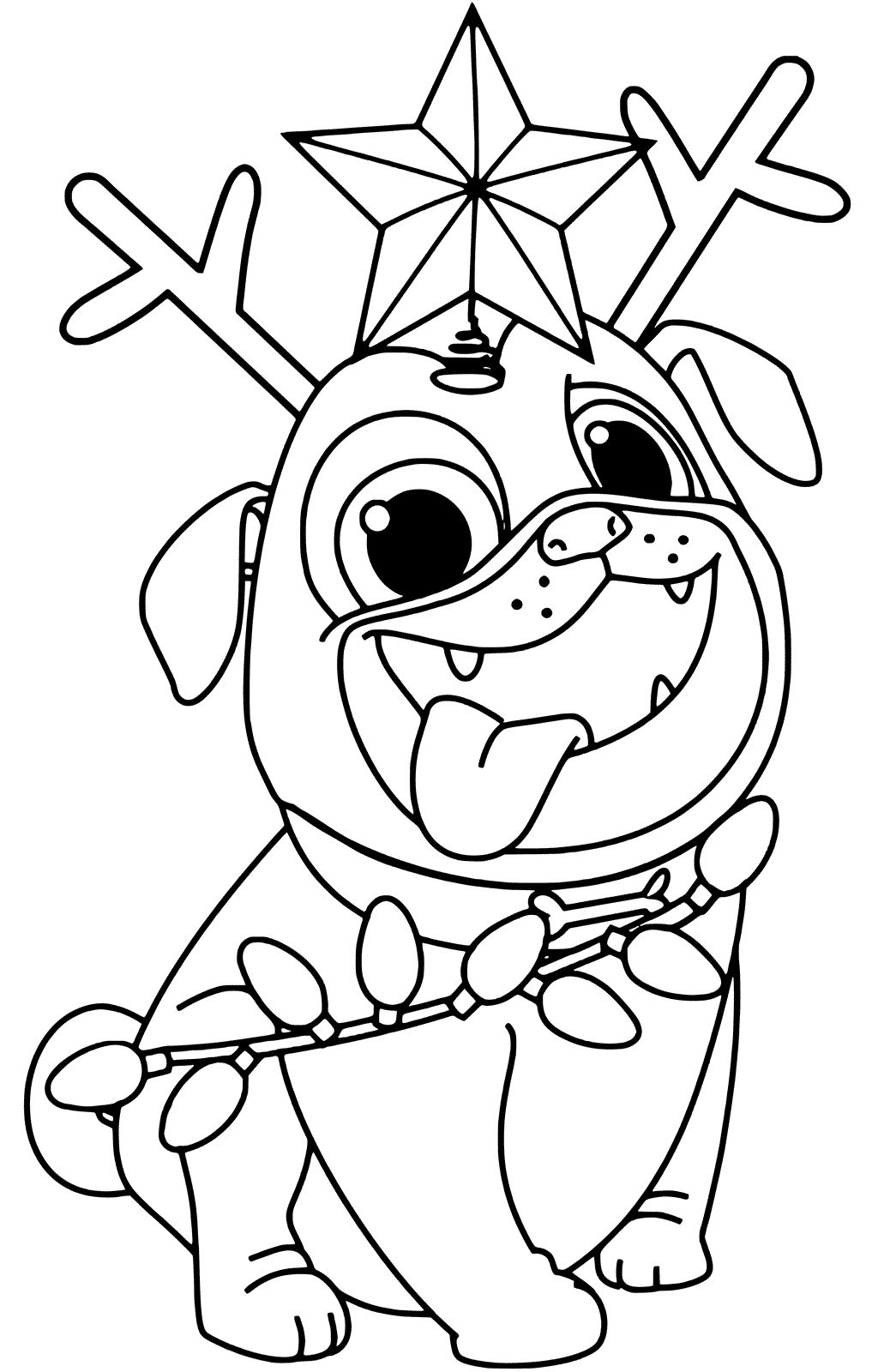 christmas dog coloring pages cute christmas puppy coloring pages at getdrawings free dog pages christmas coloring