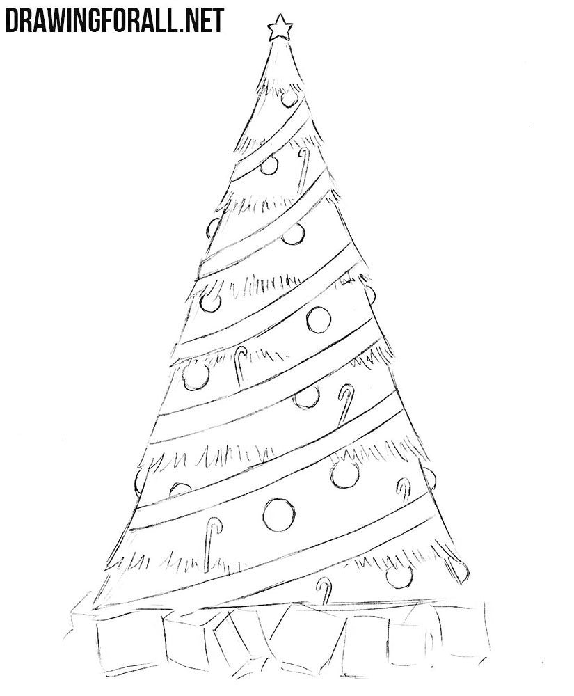 christmas drawings step by step how to draw a simple christmas tree drawingforallnet by drawings step christmas step