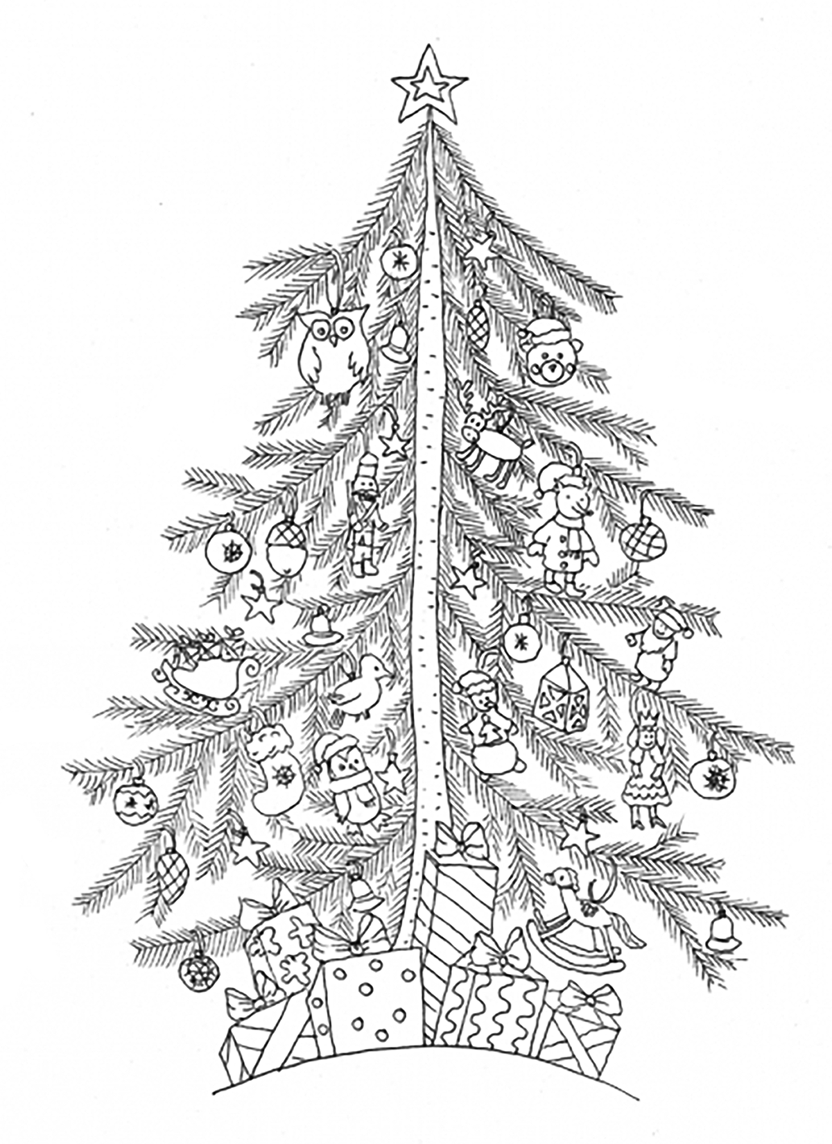 christmas tree coloring page printable craftsactvities and worksheets for preschooltoddler and printable page christmas tree coloring