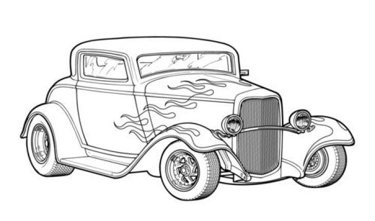classic car coloring pages classic car netart pages coloring car classic