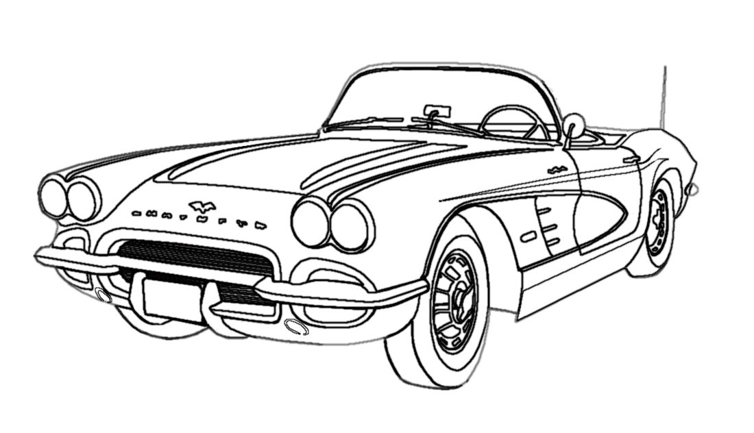 classic car coloring pages color a classic download this free muscle car coloring book classic coloring car pages