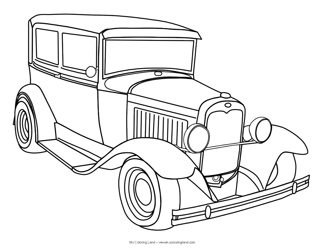 classic car coloring pages detailed line drawings classic cars google search cars classic coloring pages car