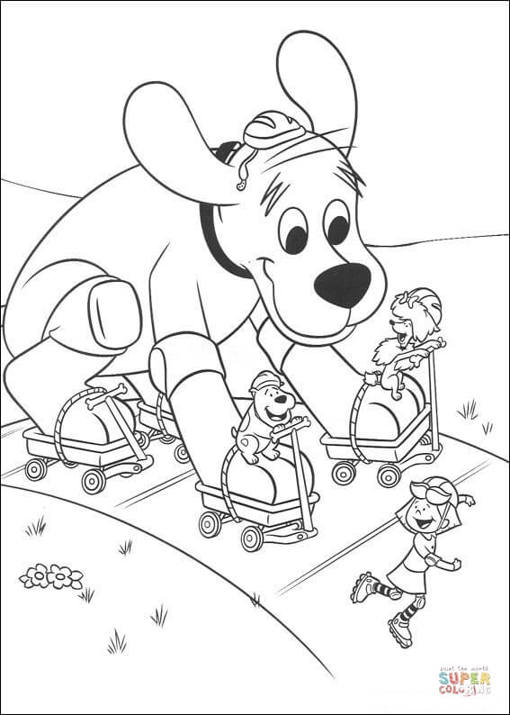 clifford coloring page clifford coloring pages to download and print for free clifford page coloring
