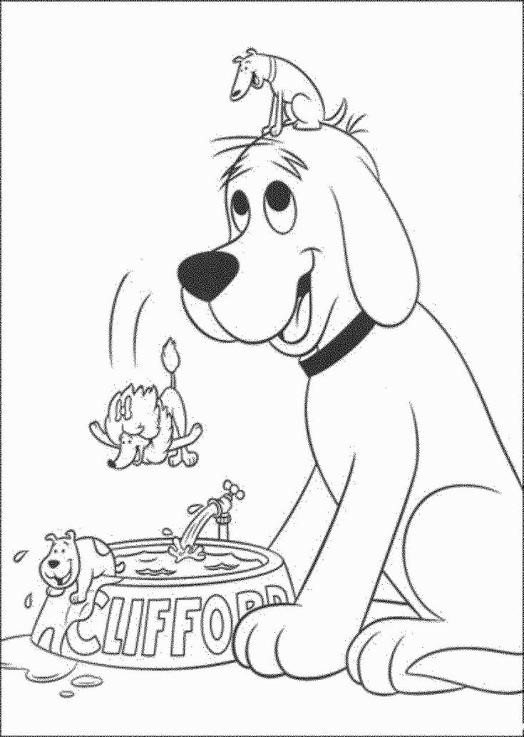 clifford coloring page clifford coloring pages to print coloring home coloring page clifford