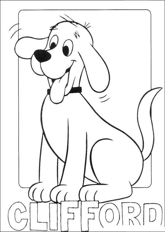 clifford coloring page clifford friends jump from clifford the big red dog head page clifford coloring