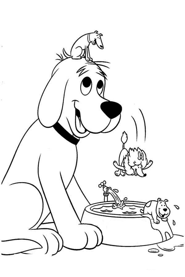 clifford coloring page clifford with bone and balloon coloring page free coloring clifford page