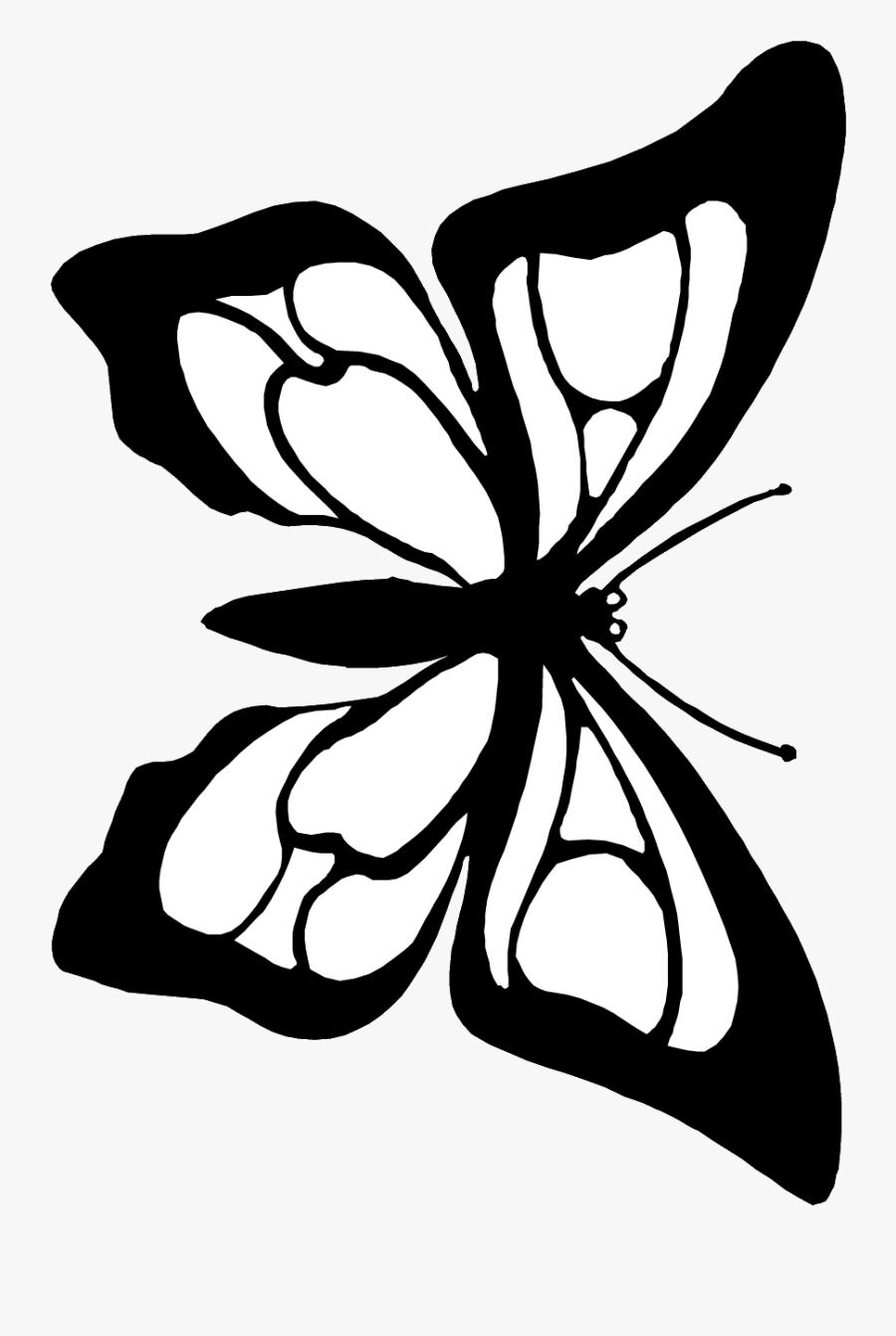 clipart for coloring butterfly cutout coloring page butterfly black white to for coloring clipart