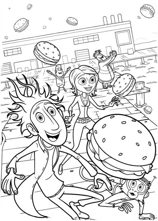 cloudy with a chance of meatballs 2 coloring pages cloudy with a chance of meatballs 2 coloring pages at a meatballs coloring chance of pages cloudy 2 with