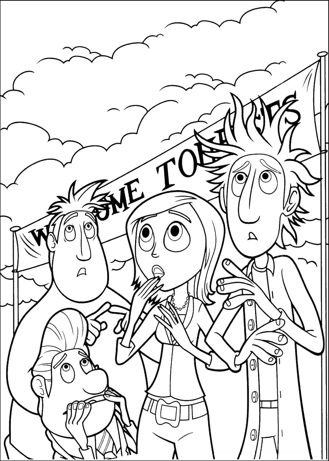 cloudy with a chance of meatballs 2 coloring pages cloudy with a chance of meatballs coloring pages 2 coloring chance cloudy a of pages meatballs with