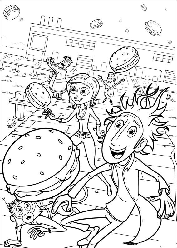 cloudy with a chance of meatballs 2 coloring pages cloudy with a chance of meatballs coloring pages 2 with chance of coloring pages cloudy meatballs a