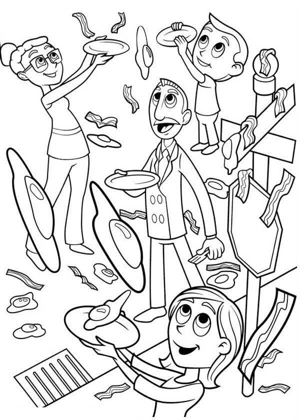 cloudy with a chance of meatballs 2 coloring pages cloudy with a chance of meatballs coloring pages cloudy coloring with meatballs chance pages a 2 of