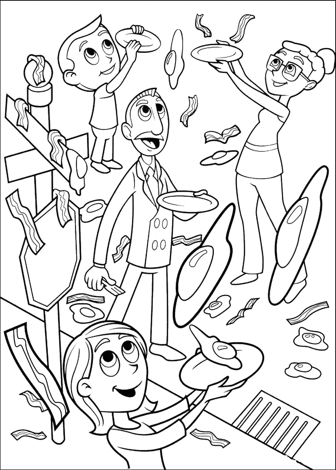 cloudy with a chance of meatballs 2 coloring pages cloudy with a chance of meatballs coloring pages meatballs with chance cloudy a 2 pages coloring of