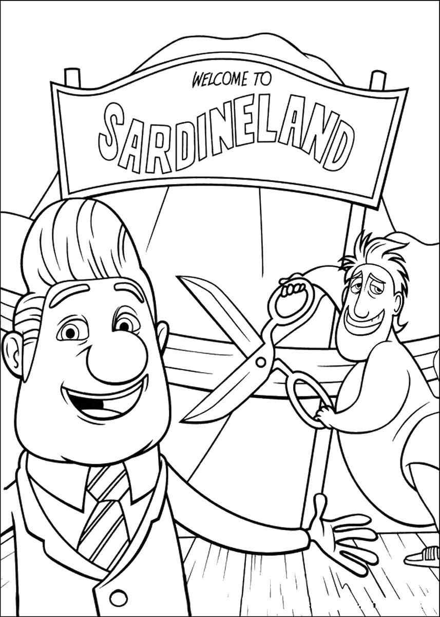 cloudy with a chance of meatballs 2 coloring pages image cloudy with a chance of meatballs flying car 2 chance coloring of meatballs with cloudy pages a 2