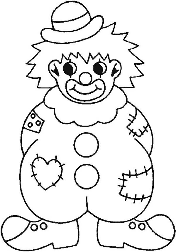 clown coloring pages printable printable clown coloring pages for kids clown pages coloring printable