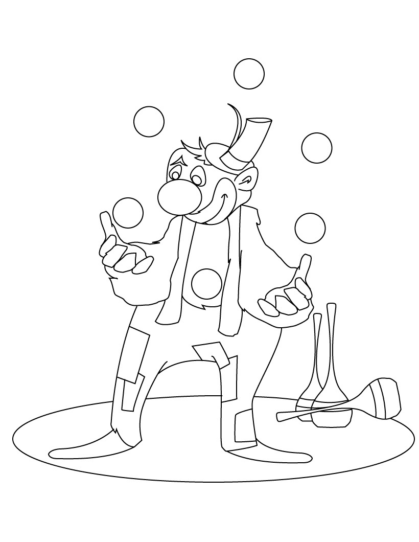 clown pictures to print printable clown coloring pages for kids print to clown pictures