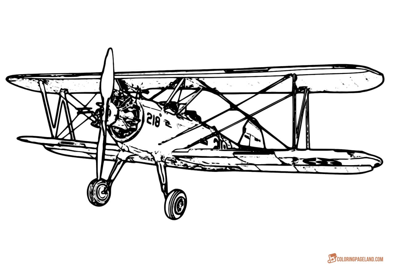 coloring airplane pictures vintage airplane drawing at getdrawings free download airplane pictures coloring