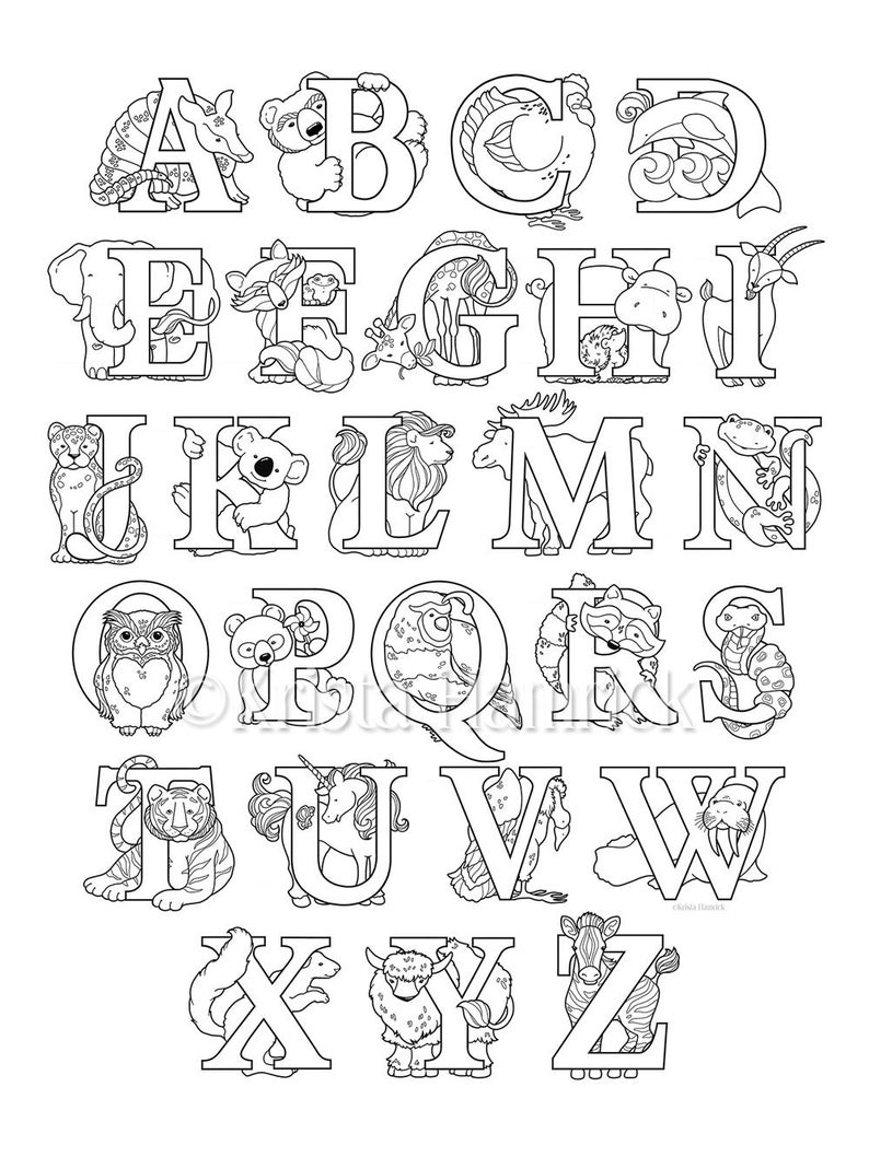 coloring alphabet animals alphabet drawing book at getdrawings free download coloring animals alphabet