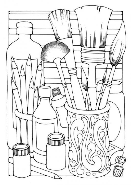 coloring art kit art supplies coloring pages free download on clipartmag kit coloring art