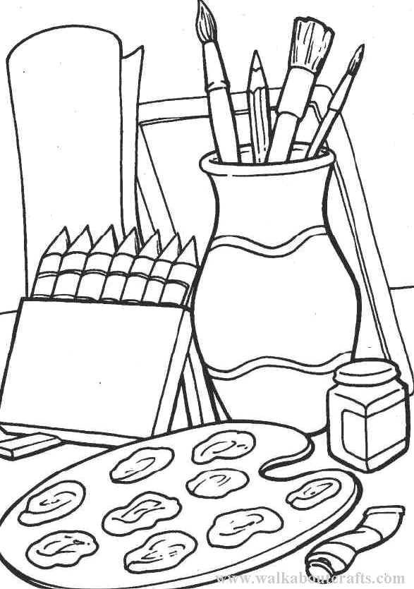 coloring art kit school coloring sheets janice39s daycare art kit coloring